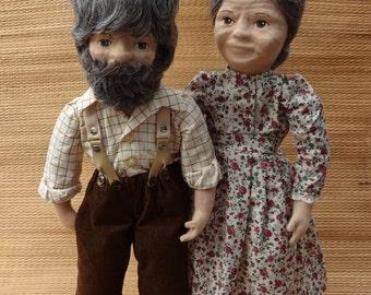 A Doll Kit to make a pair of fabric Glorex  dolls