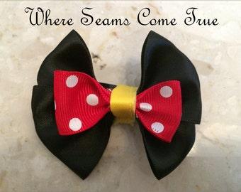 Mini Minnie Mouse Hair Bow