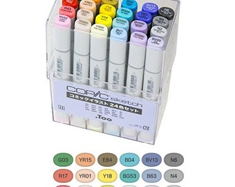 Too Copic Sketch Comic Illustration Marker Pen 24 Color Set Gift Express Shipping