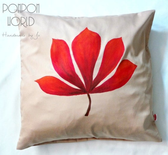 Autumn Throw Pillow Covers : Fall pillow Leaves Pillow cover Pillow case by PomPomMyWorld