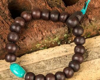 Mala Bracelet, Bodhi Seed Mala Beads, Men Beaded Bracelet, Wood Mala Bracelet, Wrist Mala, Healing Mala Bracelet