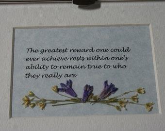 The Greatest Reward - Framed Verse