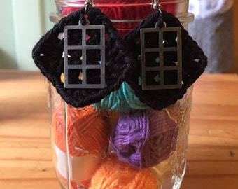 Granny Square Window Earrings