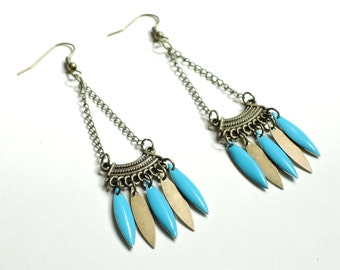 Blue Aztec earrings