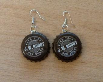 J.W. Buddy Bottle Cap Earrings