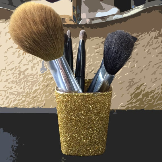 Glitter Makeup Brush Holder by AmbersArtistries on Etsy