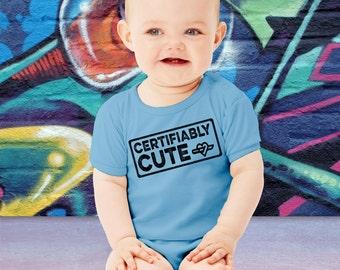 Certifiably Cute Baby Bodysuit Cute Halloween Onesie First Halloween Toddler T-shirt Baby Halloween Costume shirt Spooky baby tee AR-2