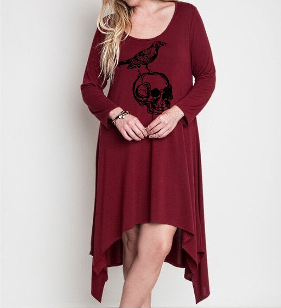 s plus size skull dress clothing curvy fashion