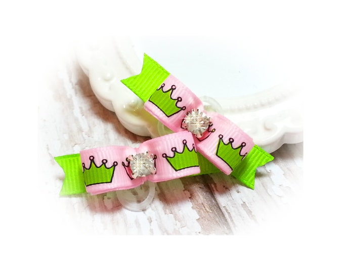Pink Dog Bows with Crowns for your Diva