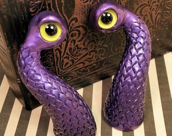 Scaly Monster Eyestalk Antennae Costume Horns - Made to Order