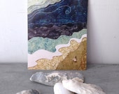 She felt small but alive, blank postcard, beach ocean, summer adventure, glossy finish 5 x 7