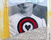 "original mixed media art journal page-6"" x 8-1/2"" frameable"