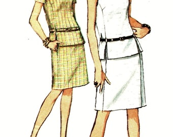 Simplicity 7004 Designer Fashion 2 Piece Skirt & Top VINTAGE ©1967