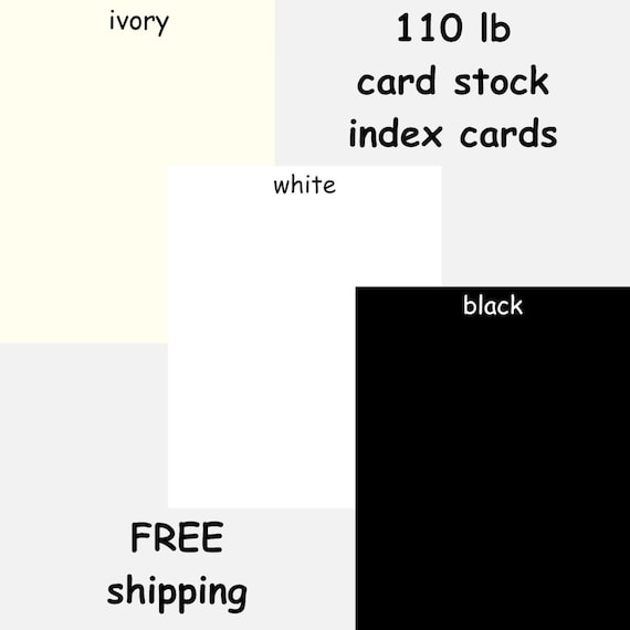 100 heavyweight cardstock 3x5  u0026 4x6 index cards white black