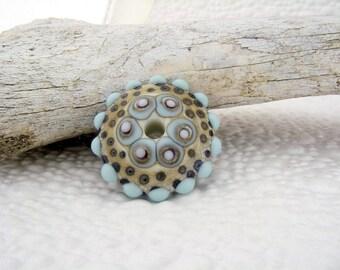 Art glass /  mandala / disc bead / big hole bead / focal bead