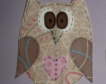 Set of 3 Whimsical Owls for Scrapbooking. Card Making, Crafts