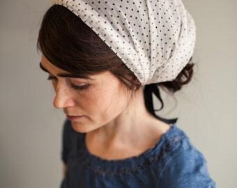 Vanilla Bean Chiffon Headwrap Garlands of Grace Specialty headwrap headcovering veil headband