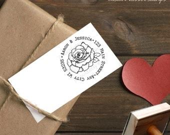 0216 NEW JLMould Rose Flower Garden Wedding Decor Custom Rubber Stamp for your DIY Save The Dates Rubber Stampers Stamper