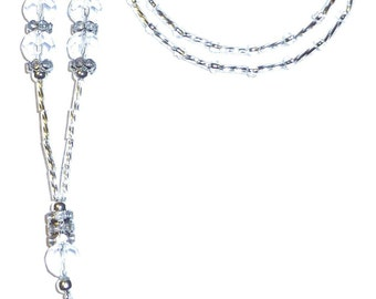 Crystal Fashion Women's Beaded Lanyard 34 inches, Key and badge holder