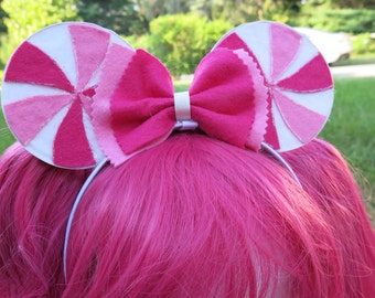 Pink Peppermint Minnie Ears
