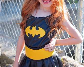 Adorable Bat Girl Superhero Costume dress