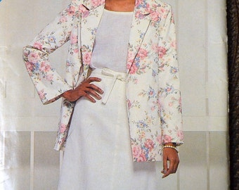 Sewing Pattern See & Sew Misses' Jacket and Skirt Size 10-12-14  Bust 32-36 Inches UNCUT Complete