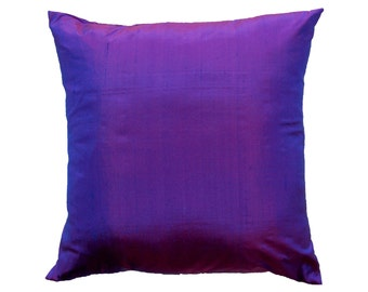 Purple Pillow Cover - Silk Violet Cushion Cover - 18 x 18