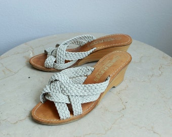 Hushpuppies Weaved Leather Sandals, sz 7 US/Can