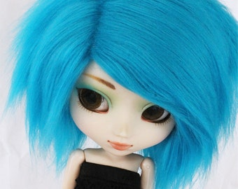 Pullip wig Turquoise fur MonstroDesigns