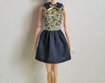 Blueberry dress for momoko doll