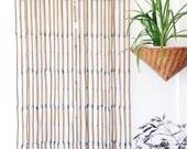 Vintage Wood Beaded Curtain - boho style, indigo, 1970s
