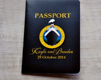 Save the Date Wedding Passport Design Fee (Cruise Ship Theme)