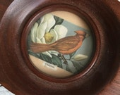 Vintage Oval Picture Frames Walnut Small Art