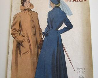 Vintage French Magazine les Tailleurs et Manteaux de Paris Fashion Sewing and Fashion 1950
