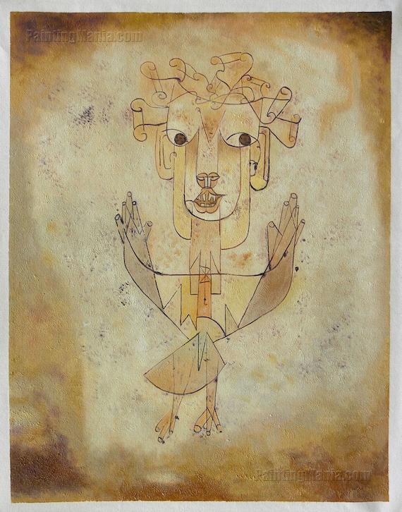Custom All Stars >> Angelus Novus The New Angel Paul Klee hand-painted oil