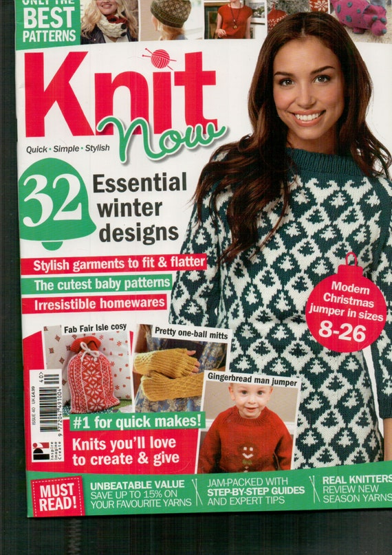 Knit Now Knitting Magazine Issue 40 November 2014