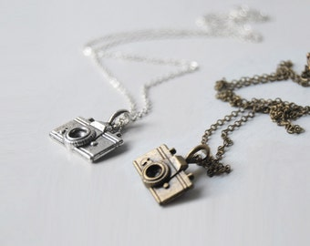 Tiny Camera Necklace | Cute Camera Charm Necklace | Photographer Necklace | SALE!