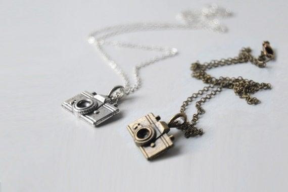 Tiny Camera Necklace | Cute Camera Charm Necklace - SALE! -