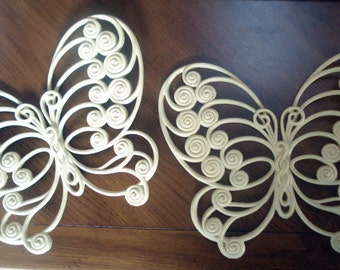 SALE -- Pair of wall butterflies