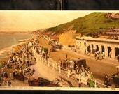 Vintage World War II postcard, Boscombe, England 1943