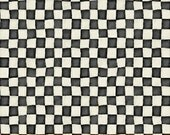 Alice Adventures in Wonderland  cotton quilting fabric coordinate Checkerboard W30854-3 black, by the half yard