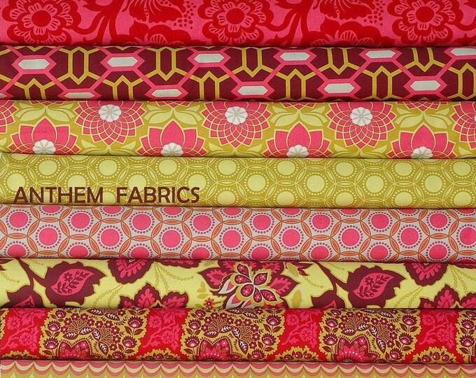 Joel Dewberry Heirloom fabric : fat quarter set of 11, Ruby Red palette