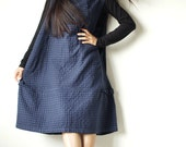 Tulip dress in patterned fabric (one size)