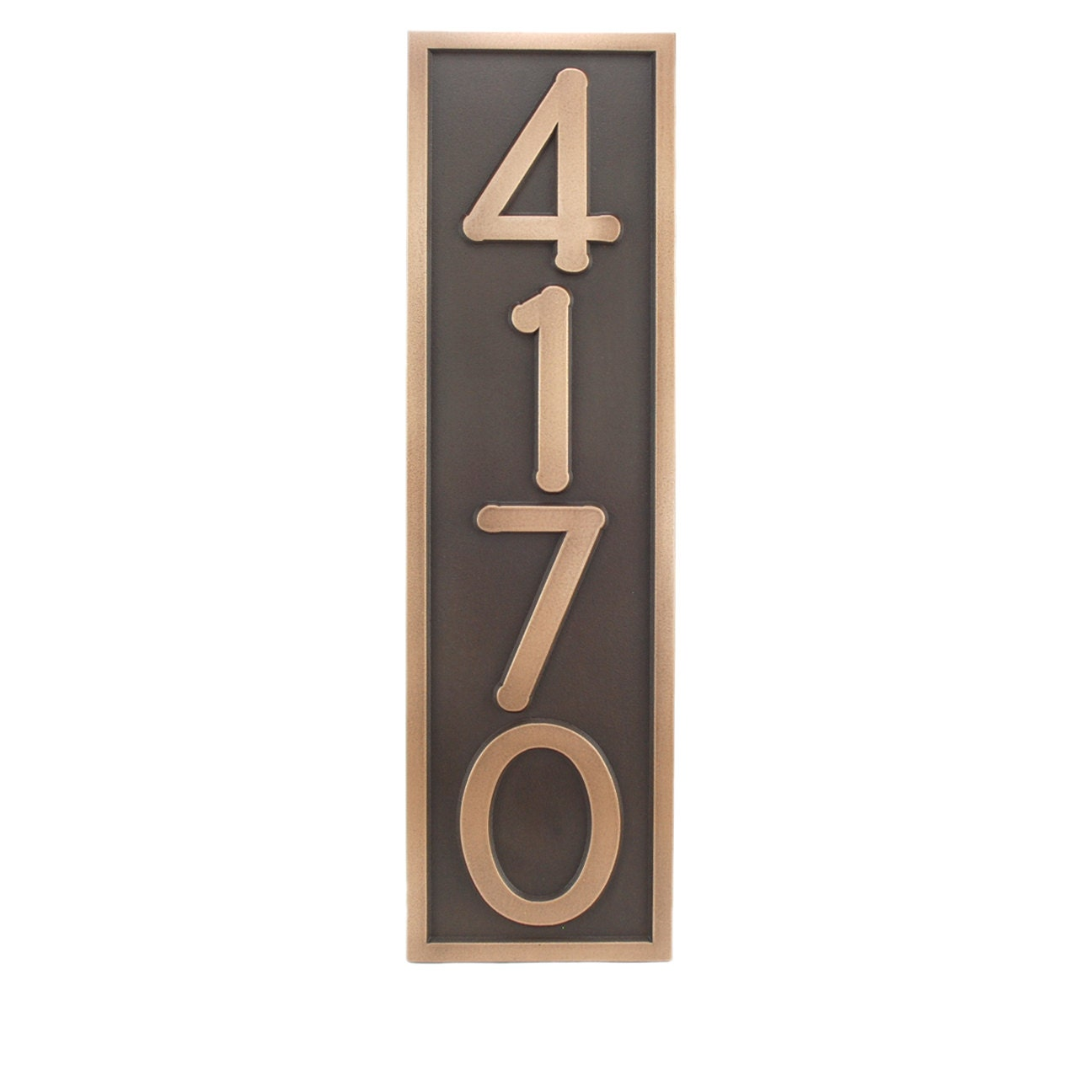 Craftsman bungalow arts and crafts 4 house numbers x for Bungalow house numbers