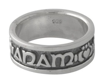 Celtic Anam Cara Claddagh Soul Friend Ring Sterling Silver size 8