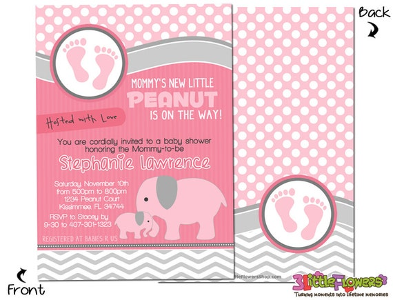 Elephant baby shower personalized baby shower invitations 5 x 7 il570xn filmwisefo