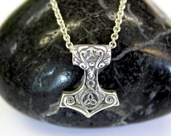Ladies Mjolnir Necklace Ladies Thors Hammer in Solid Sterling Silver 470