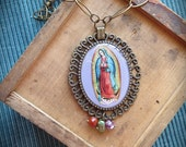Antique Burnished Gold GUADALUPE Necklace - Perfect for your loved one