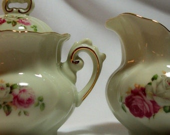 Sugar Bowl and Creamer Victorian