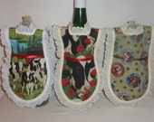 Dish Soap Apron, Handmade, On the Farm, Wine Bottle, Detergent  Cover, Eyelet Lace, Kitchen Country, Farmhouse Decor